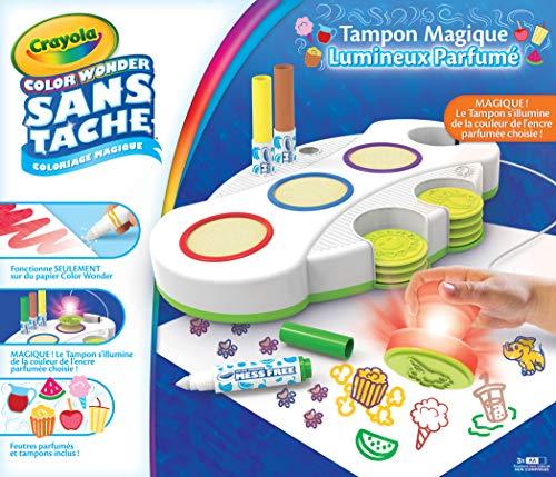 Crayola - Tampons Magiques Parfumés Color Wonder - Loisir créatif - Color Wonder - à partir de 3 ans - Jeu de dessin et coloriage