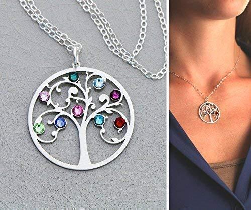 Family Tree Necklace - IBB 19 IBD - Grandma Mom Gift - Sterling