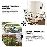 UPKOCH Tischdeckenbeschwerer Marmor Stein Tischdeckengewichte Tischtuchklammer Tischtuchhalter für Dicke Tischplatten Drinnen Draußen Garten Picknicks Party Küche Restaurant 4 Stück Weiß - 3