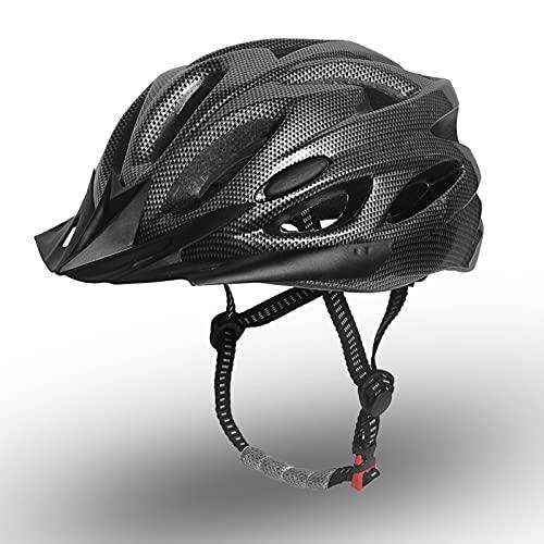 Funien Casco ligero, ligero con forro extraíble suave y visera desmontable para hombres y mujeres, casco de carreras en molde para ciclismo de carretera y montaña