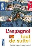 Coffret L'espagnol tout de suite ! (livre + 1 CD)