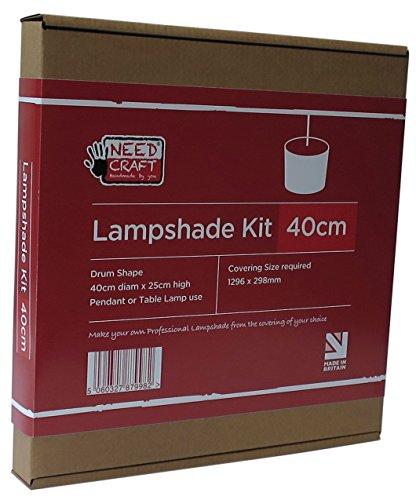 Bausatz zur Herstellung von Lampenschirmen, für Hängeleuchten oder Tischlampen, 40 cm