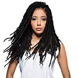 Bobbi Boss Synthetic Hair Crochet Braids African Roots Braid Collection Nu Locs 18' (4-PACK, 1B)