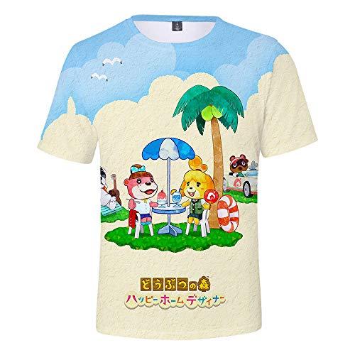 Camisetas con Estampado Animal Crossing de los Hombres, Camisetas Impresionantes de los Videojuegos de Animal Crossing Tshirt Manga Idea de Regalo Corta Tops