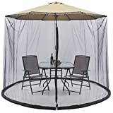 Best Choice Products Outdoor 9ft Patio Umbrella Bug Screen w/Zipper Door and Polyester Netting, Black
