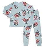 Mini-K Baby Toddler Kids Boys Girls Sleepwear Pajamas 100% Cotton Long Sleeve 2pcs Pjs Set (Popcorn, 4T)