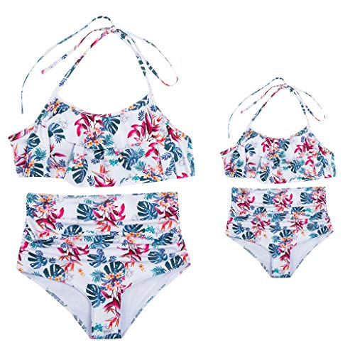 UOKNICE Swimwear for Womens, Summer Mother and Daughter Print Two Piece Matching Clothing Beachwear Tankini Bikini Online Stores Shop Tankinis Crop Best Boutique Where to Buy Orange