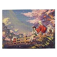 犬夜叉 ジグソーパズル 500ピース 木製 パズル クリアな印刷 お洒落 壁飾り 家の装飾 アニメグッズ レジャー プレゼント 大人/子供向け