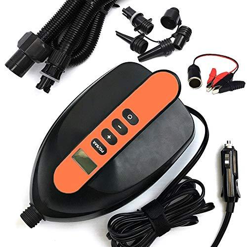 Bomba de aire inflable portátil para coche eléctrico para la tabla de remo al aire libre y la cama de aire del barco Kayak Stand Up Paddle Board