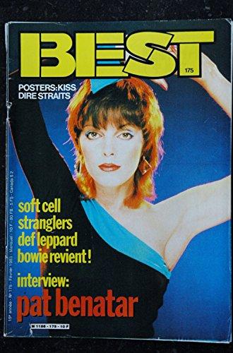 BEST 175 FEVRIER 1983 KISS DIRE STRAITS PAT BENATAR SOFT CELL STRANGLERS DEF LEPPARD BOWIE POSTER KISS DIRE STRAITS