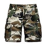 HOSD2019 Hosen Latzhose für Jungen Shorts für Kinder Camouflage Elastische Hose bei großen...