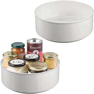 mDesign range-épices rotatif (lot de 2) – rangement de cuisine élégant pour épices et ingrédients pour la cuisine – bac de...