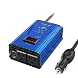 Power Inverter 300W Car Inverter DC 12V to 110V AC Converter with LED Voltage Display & 4.8A Dual USB Car Adapter Charger by VOLTWORKS
