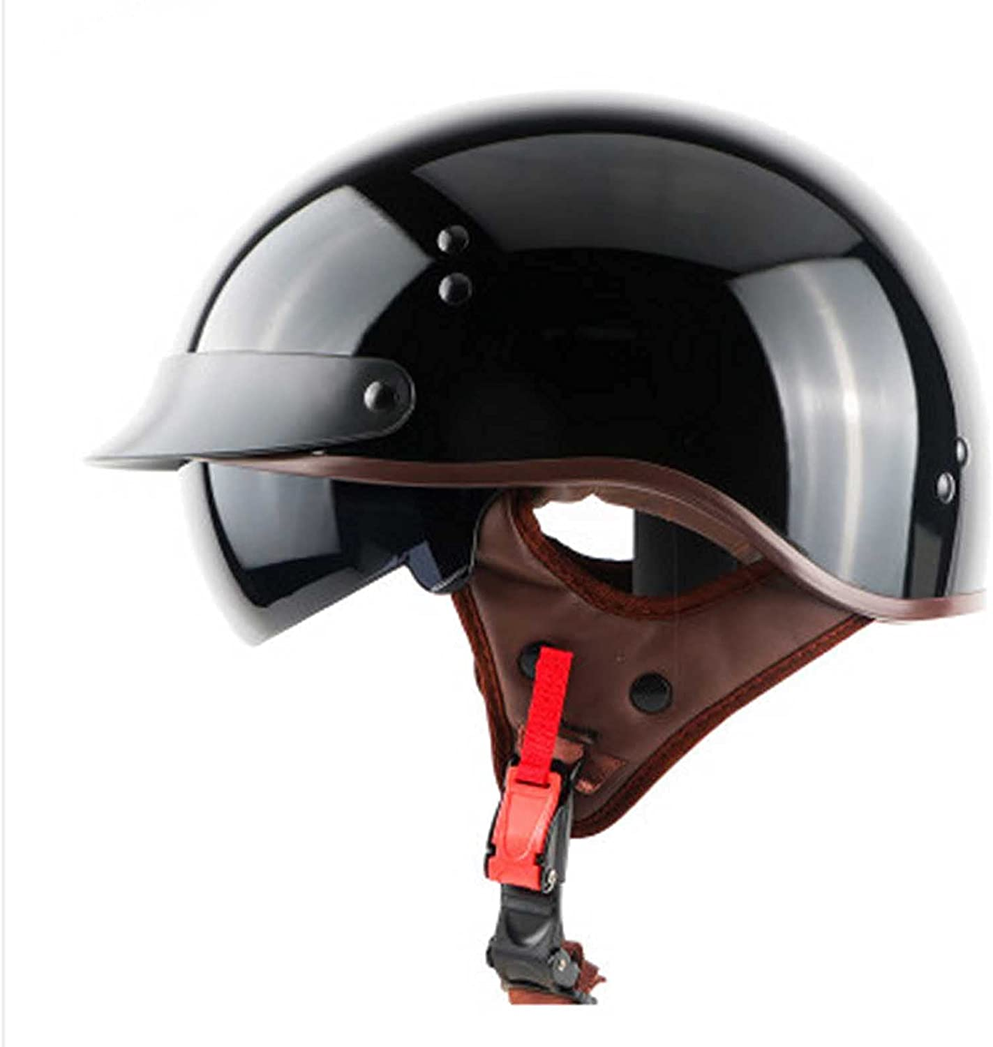 All stores are sold GAOZ Vintage Style Retro Open-Face Street Motorcycle Finally popular brand Helmet Cap