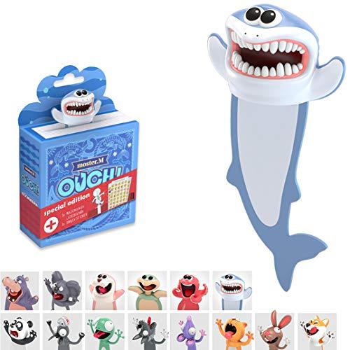 KXT Witzige 3D Cartoon Tier-Lesezeichen - Lustiges Geschenk für Kinder und Erwachsene (Hai)