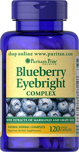 Puritan's Pride Blueberry Eyebright Complex, 120 Caplets