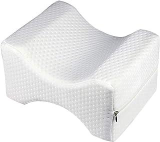Dkhsy Almohada de rodilla de espuma viscoelástica para dormir de lado o de espalda, cojín de alivio de presión con funda lavable