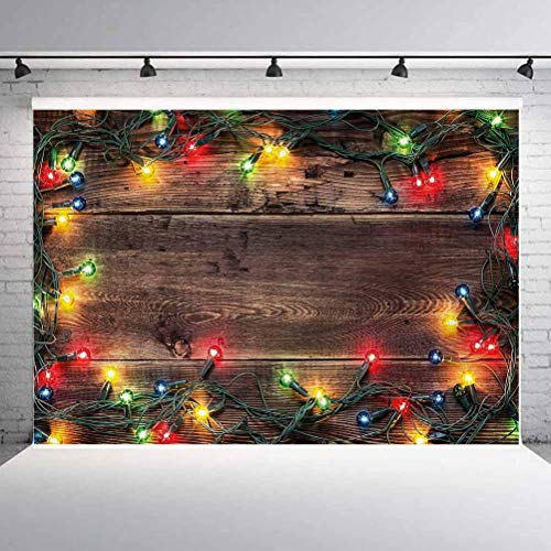 10x10FT Vinyl Photo Backdrops,Christmas,Festive Countryside Photo Background for Photo Booth Studio Props