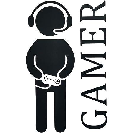 Boy Gamer - Pegatinas de pared para juegos creativos y juegos de videojuegos de vinilo divertidos para la familia, el hogar, los niños, la sala de estar, el dormitorio, la sala de juegos