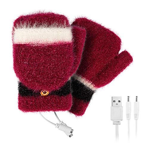 Hinzonek dedo cubierta Mitones guantes para mujeres Usb calefacción lavable diseño para escribir frío Accesorios
