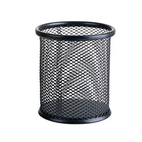 bodhi2000 Lápices Pot Holder Metal hueco papelería caja de almacenaje escritorio organizador, color negro talla única