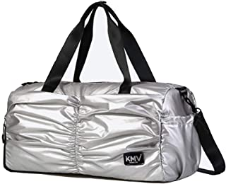 Sports Duffle Bag,Sports Gym Bag With Shoes Compartment And Wet Pocket - For Luggage Gym Sports (Color : Silver, Size : Small)