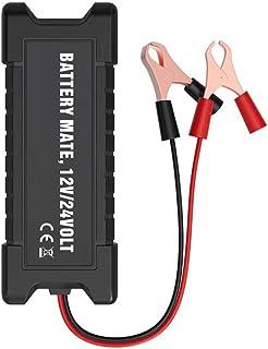 Garneck Testador de bateria de carro com luz LED digital recarregável, testador de carregamento multiidiomas, ferramenta d...