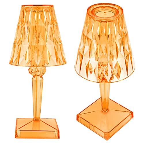 Snufeve6 Lámpara de Escritorio de la Prisma, luz de Mesa de Cristal Brillante de Moda Hermosa para la decoración para los Regalos(Naranja, Tipo de Torre Inclinada de Pisa)