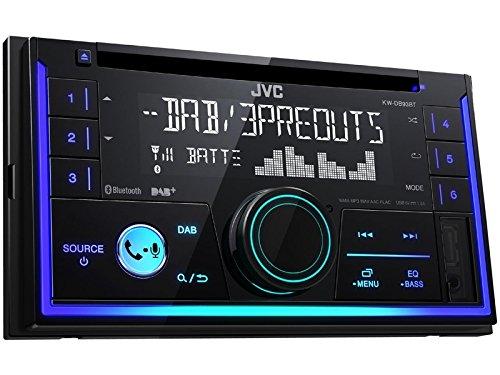 JVC KWDB93BT 2 DIN DAB inkl Antenne CD Bluetooth Spotify mit Einbauset für MAN TGX ab 2007