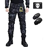 Pantaloni Shooting BDU militari da combattimento con ginocchiere Typhon Kryptek TYP per Airsoft Paintball., Typhon Kryptek, L