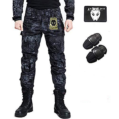 Pantalon de combat BDU de paramilitaire, Pantalon avec genouillères Typhon...