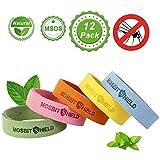 DECARETA 12Pcs Anti-Moustiques Bracelet pour Adultes et Enfants, Bracelets Anti-Moustiques 100% Naturel et Non Toxiques Bracelet Anti-Moustique Réglable pour Intérieur ou Extérieur (5 Couleurs)