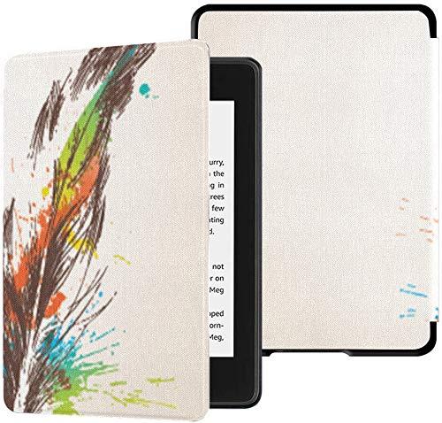 Kindle Paperwhite Estuche Pluma de Color Resistente al Agua Hecha de Plumas de pájaro Estuches para Kindle Paperwhite 2018 Estuche con Despertador automático/sueño Kindle Paperwhite Estuche 10th 1: Amazon.es: Electrónica