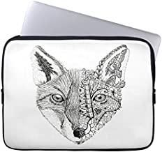 Eratio Unique Hand Illustrated Artsy Fox Laptop Sleeve 12 Inch MacBook Air Case MacBook Pro Sleeve and 12 Inch Laptop Bag