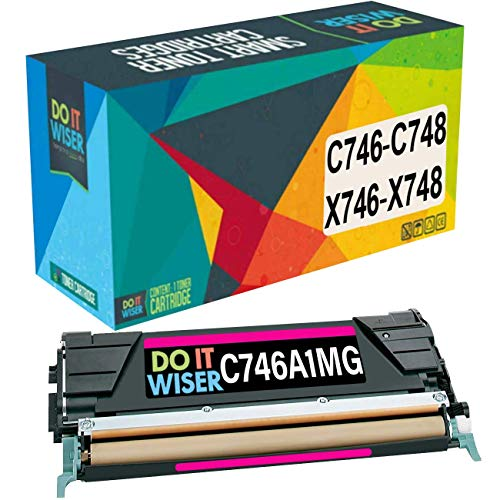 Do it Wiser Compatible Toner Cartridge Replacement for Lexmark X746de C746 C748 XS748de X748de C746dn C746A1MG (Magenta)