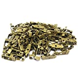 アンティーク 調 ブローチ ピン 100個 セット 15 mm アクセサリー 手芸 (15mm)