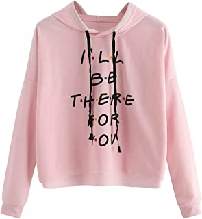 Women Comfortable Long Sleeve Lightweight Zip-up Hoodie with Pocket🐧LIM&Shop I Will Be There for You Pullover Hooded