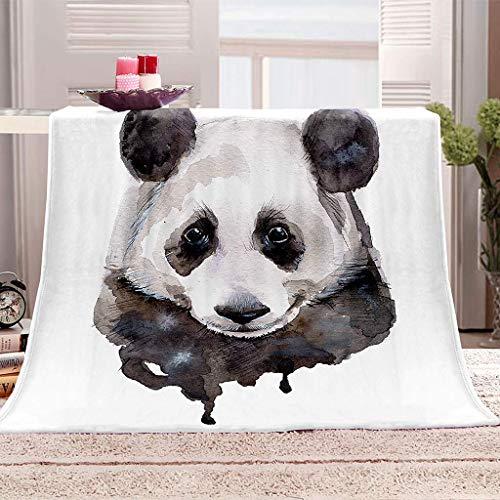 Fansu Kuscheldecke Flanell Decke, 3D Drucken Microfaser Flauschig Weich Warm Plüsch Wohndecke Fleece Tagesdecke Decke für Sofa & Bett (Panda,150x130cm)