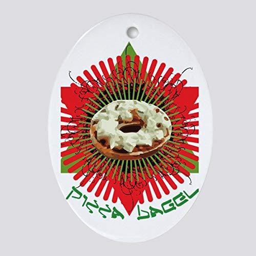 Diuangfoong Pizza Bagel Oval Ornament