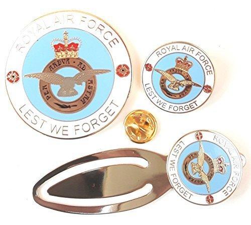 RAF Königliche Luftwaffe Vollständiges Set Gedenkausgabe Münze, Abzeichen And Lesezeichen Geschenkset