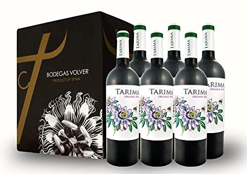 BODEGAS Y VIÑEDOS VOLVER | Vino Tinto Tarima Orgánico | Pack de 6 Botellas | Denominación de Origen de Alicante | Variedad Monastrell | Organic Wine | (6 Botellas de 750 ml)
