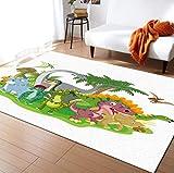 Alfombra De Pterodáctilo De Dinosaurio Animal, Alfombra De Cabecera del Dormitorio De La Sala De Estar, Sala De Juegos para Niños, Alfombra De Juguete para Gatear para Niños 160X230Cm