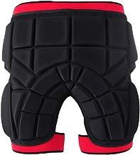 TZTED Pantalones Cortos de Compresión con Protectores Acolchados 3D con Almohadillas Protectora sequipo de protección para Patinaje