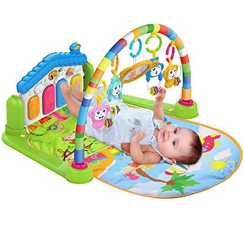 SURREAL - (SM) 3 en 1 bébé Piano jouer Gym tapis la musique et lumières- verte