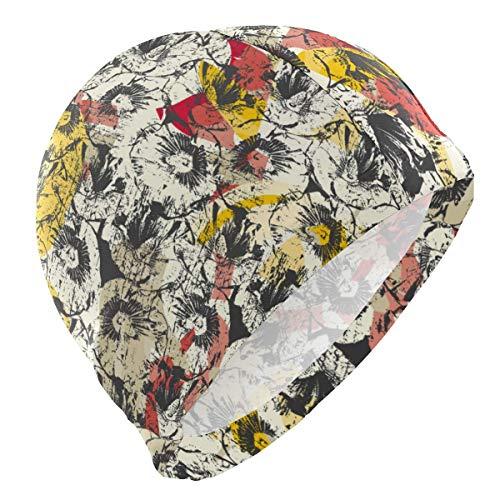 Quintion Robeson Bunte abstrakte Malerei Badekappe Hut wasserdichte Bade-Dusche Haarabdeckung für Erwachsene Männer Jugend Jungen CAP-187