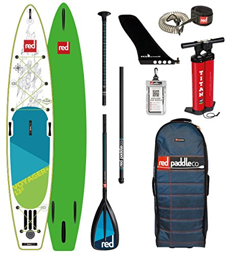 Red Paddle Co 2018 Voyager 13'2 Inflatable Stand Up Paddle Board +...