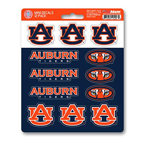 FANMATS ProMark NCAA Auburn Tigers Decal Set Mini (12 Pack), Team Color, One Size
