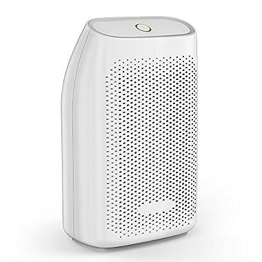 Afloia Dehumidifier for Home Quiet Mini Dehumidifier for Bedroom 700ml/24 ounce Small Dehumidifiers for Bathroom Air Dehumidifier for Room 1200 Cubic Feet