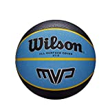 Wilson, Pallone da basket, MVP, Nero/Blu, Misura 7, Gomma, Uso all'interno e all'esterno, WTB9017XB07