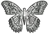 Sizzix 3-D Impresslits-Carpeta en Relieve, diseño de Mariposa de Tim Holtz, 665251, Multicolor, Talla única